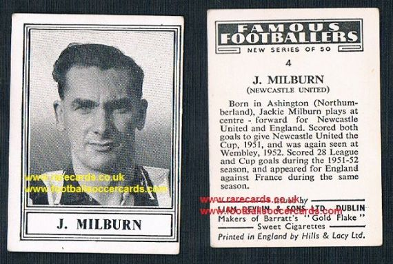 1952 Liam Devlin Ireland NEW SERIES Jackie Milburn 4 Newcastle United